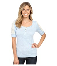 Ariat Lorraine Henley Vista Women's Short Sleeve Pullover Blue