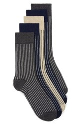 Topman Men's Assorted 5 Pack Stripe Socks