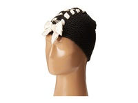 Betsey Johnson Lace Up Beanie Black Beanies