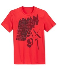 Armani Exchange Men's World Cities Graphic Print T Shirt Absolute R