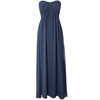 Alice And You Ruched Bandeau Maxi Dress Navy