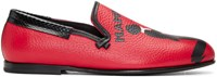 Dolce And Gabbana Red Mambo Loafers