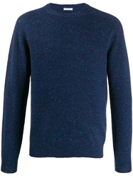 Malo Crew Neck Knit Sweater Blue