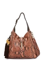 Wgaca Gucci Python New Jackie Shoulder Bag Previously Owned Pink