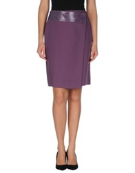 J's Exte' Knee Length Skirts Mauve
