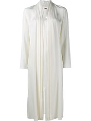 Adam By Adam Lippes Pleat Detail Dress Nude And Neutrals