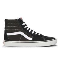 Vans Sk8 Hi Canvas Hi Top Trainers Black White