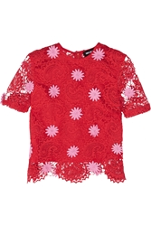 House Of Holland Paisley Guipure Lace Top