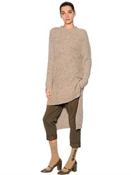 N 21 Asymmetrical Wool And Silk Knit Sweater