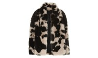 Whistles Helvin Cow Shearling Jacket Multicolour