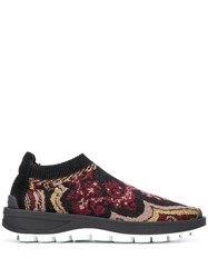Etro Ethnic Running Sneakers Black