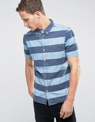 Element Short Sleeve Striped Shirt With Pocket Blue