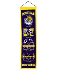 Winning Streak Michigan Wolverines Heritage Banner Team Color