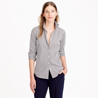 J.Crew Petite Stretch Perfect Shirt In Classic Stripe