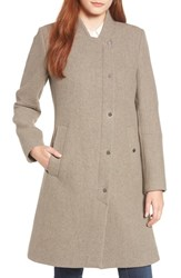 Marc New York Single Breasted Melton Coat Twig