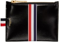 Thom Browne Black Small Striped Coin Purse