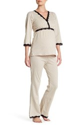 Belabumbum Dottie Maternity Tunic And Lounge Pant Set Maternity Beige