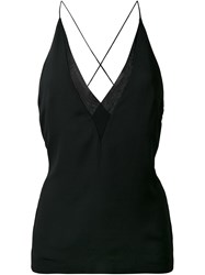 Dion Lee Sheer Trim Camisole Black