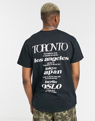 Topman T Shirt With Reflective Back Print In Black