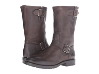 Frye Natalie Mid Engineer Charcoal Tumbled Full Grain Women's Boots Black