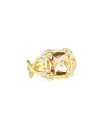 Jude Frances 18K Diamond And Champagne Citrine Cocktail Ring