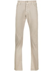 Jacob Cohen Slim Fit Trousers Neutrals