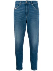 Diesel Five Pocket Skinny Jeans Blue