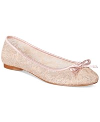 Adrianna Papell Sage Lace Evening Flats Women's Shoes Blush