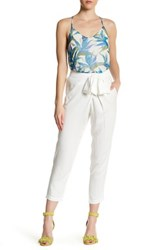 Ella Moss Cross Tapered Pant White