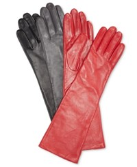Charter Club Long Leather Tech Gloves Only At Macy's Port Red