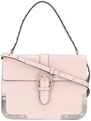 Red Valentino Star Detail Shoulder Bag Women Calf Leather One Size Pink Purple