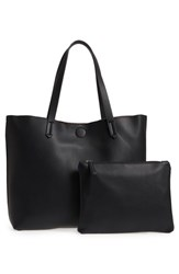 Bp. Contrast Lining Faux Leather Tote Black