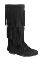 Refresh Jolin Fringe Tall Boot Black