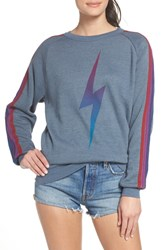 Aviator Nation Bolt Fade Sweatshirt Slate Purple