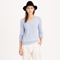 J.Crew Cambridge Cable V Neck Sweater