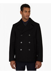 Marni Navy Wool Double Breasted Peacoat
