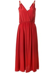 Forte Forte Wrap Front Maxi Dress Red