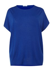 Persona Vita Short Sleeved Drape Jersey Top Blue