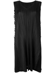 Issey Miyake Pleats Please By Pleated Shift Dress Black