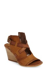 Miz Mooz Women's Kipling Perforated Sandal Wheat Leather