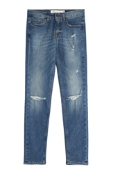 Victoria Beckham Distressed Skinny Ankle Jeans