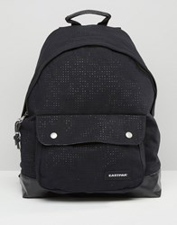 Eastpak Padded Pak'r Perforated Backpack In Black Black