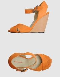 Emma Lou Wedges Orange
