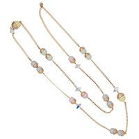 Nadia Minkoff Endless Multi Pearl And Crystal Spike Necklace Gold