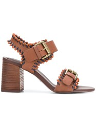 See By Chloe Romy City Whipstitch Sandals Brown