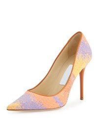 Jimmy Choo Abel Woven Multicolor Pump Spice Mix