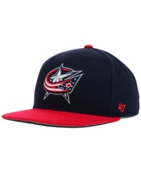 '47 Brand Columbus Blue Jackets Sure Shot 2 Tone Snapback Cap Navy Red