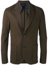 Lanvin Blazer Jacket Men Cotton Polyamide Spandex Elastane Wool 50 Brown