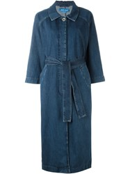 Mih Jeans 'Raglan' Denim Coat Blue