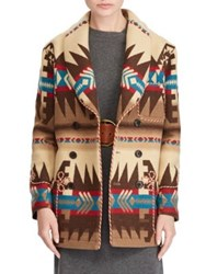 Polo Ralph Lauren Multiprint Double Breasted Coat